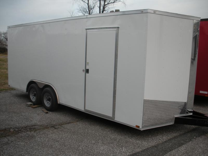 2021 Spartan 8.5' X 20' X 7' Height 10K White Car / Racing Trailer
