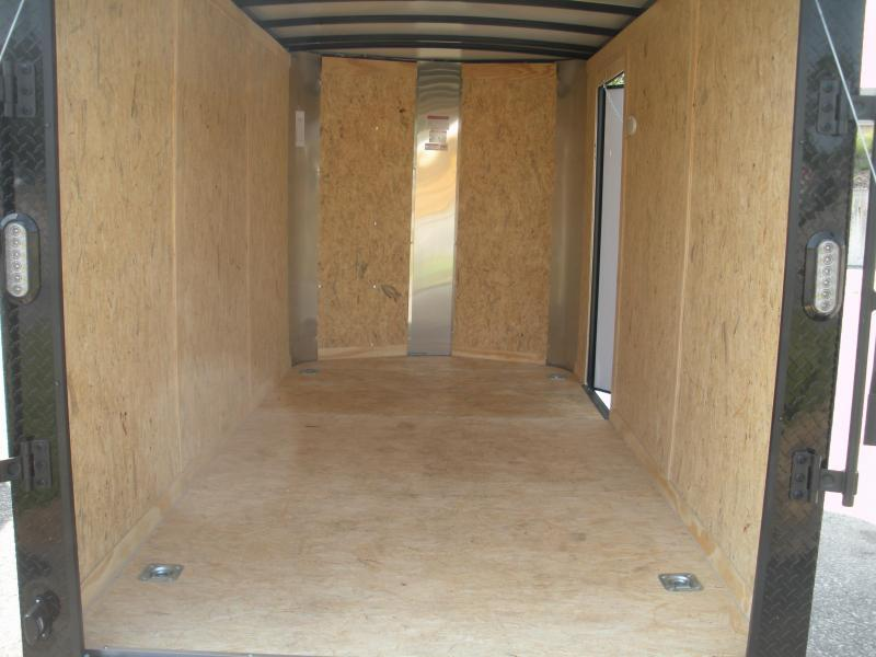 2021 Arising 6' X 12' 3K RED/Black Out/4D-Rings Enclosed Motorcycle Cargo Trailer