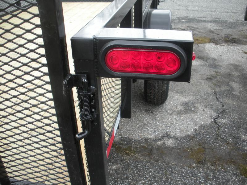 """2020 Down 2 Earth Trailers 76"""" X 12' 3K with 24"""" Mesh Sides Utility Trailer"""