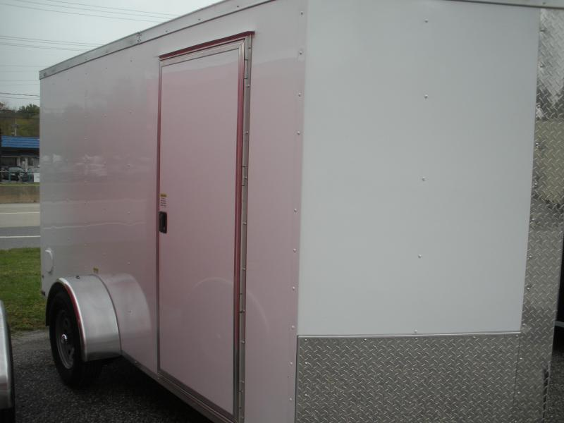 White 2021 MCTL 6' X 12' *LED Lights*Ramp Door*Side Door*Enclosed Cargo Trailer