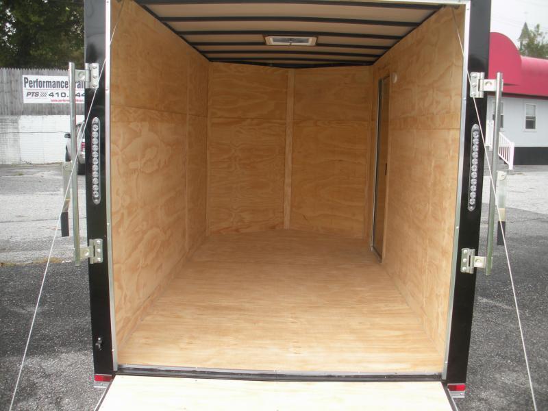White 2021 MCTL 6' X 12' *LED Lights*Ramp Door*Side Door*Enclosed Cargo Trailer