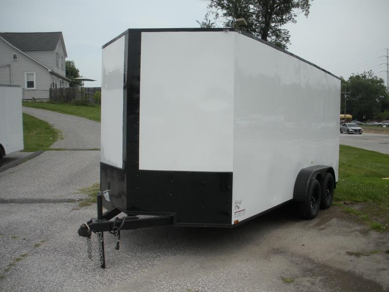 """7X16's*7' & 6'9"""" Height's* Starting at $7595.00*Some w/Black Trim, Some w/Semi-Screwless* Black, White, Charcoal*2021 MCTL Enclosed Cargo Trailer"""