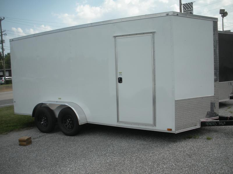 """7X16's*7' & 6'9"""" Height's* Starting at $7395.00*Semi-Screwless* Black, White, Charcoal*2021 MCTL Enclosed Cargo Trailer"""