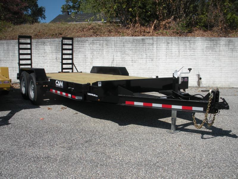 "Due in 12/28 2021 Cam Superline 82"" X 18' 14K Channel Frame with Beavertail  Equipment Trailer"