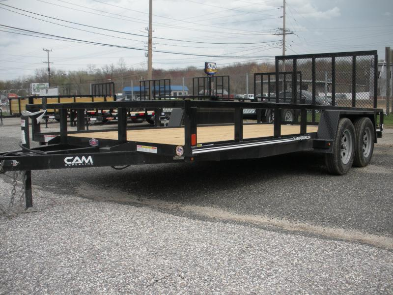 "2020 Cam Superline 82"" X 16' Utility Trailer 7K Tandem with Tubular Railings"