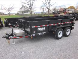 2020 Cam Superline 5CAM 6' X 12' 12K Standard Duty Low Profile Dump Trailer with Ramps