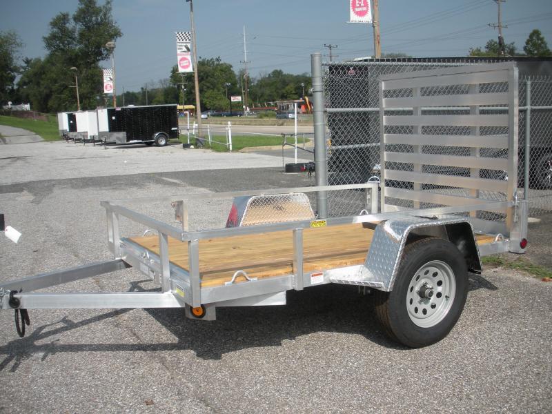 "2021 Quality Steel and Aluminum 62"" X 8' Aluminum Utility Trailer"