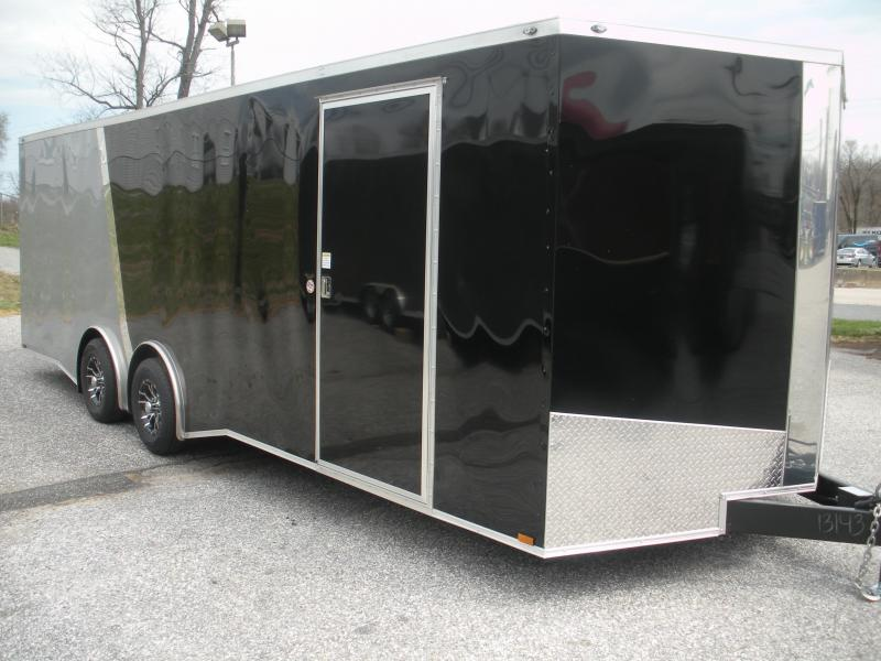 2021 Spartan 8.5' X 24' 10K Torsion Axles Black & Silver w/ Slanted Chrome Trim Car / Racing Trailer