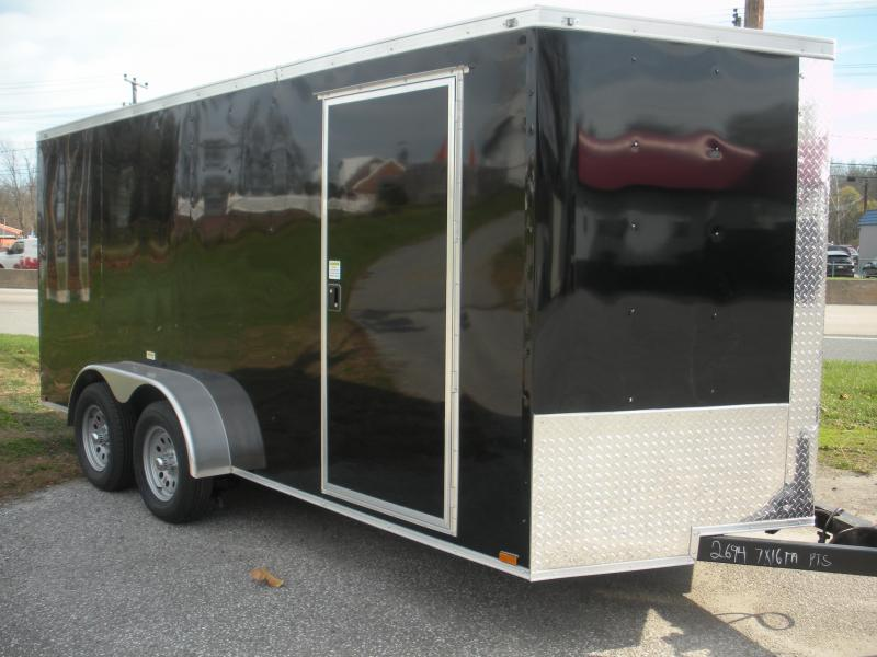 Assorted Colors*LED Lights*Ramp Door*Side Door*2021 MCTL 7' X 16' Enclosed Cargo Trailer