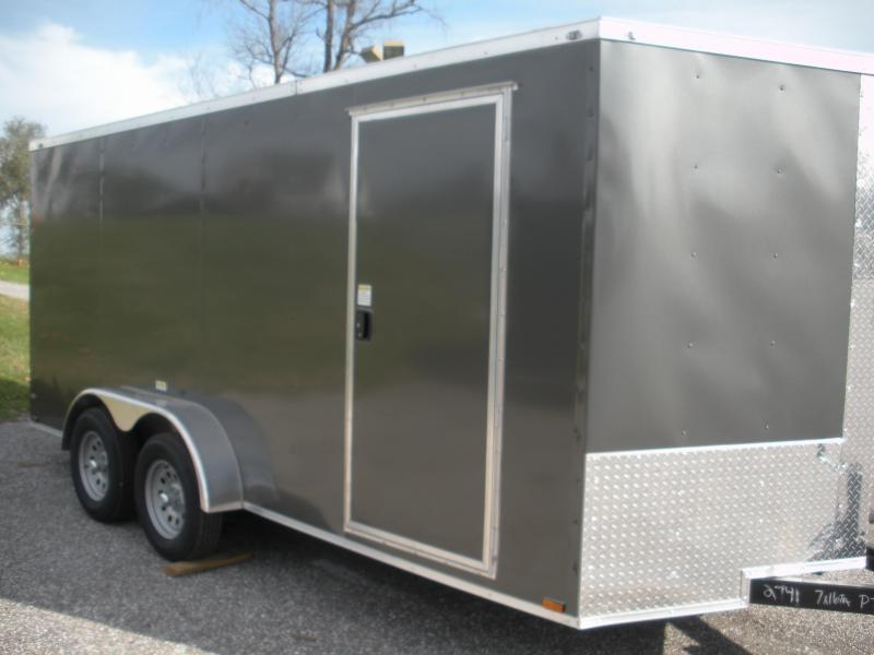 *Assorted Colors*LED Lights*Ramp Door*Side Door*2021 MCTL 7' X 16' Enclosed Cargo Trailer