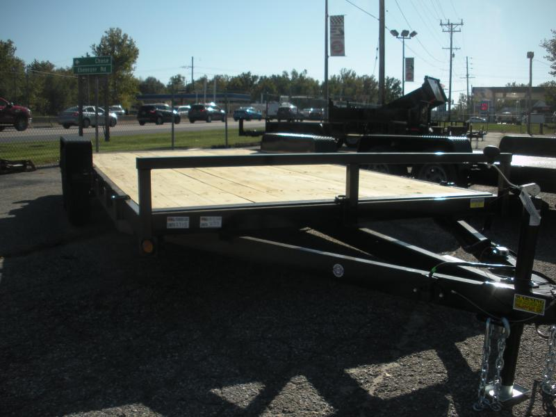 """In Stock* 2021 QSA 83"""" X 18' 7K * 2 Removable Fenders*Wood Deck Open Car / Racing Trailer"""