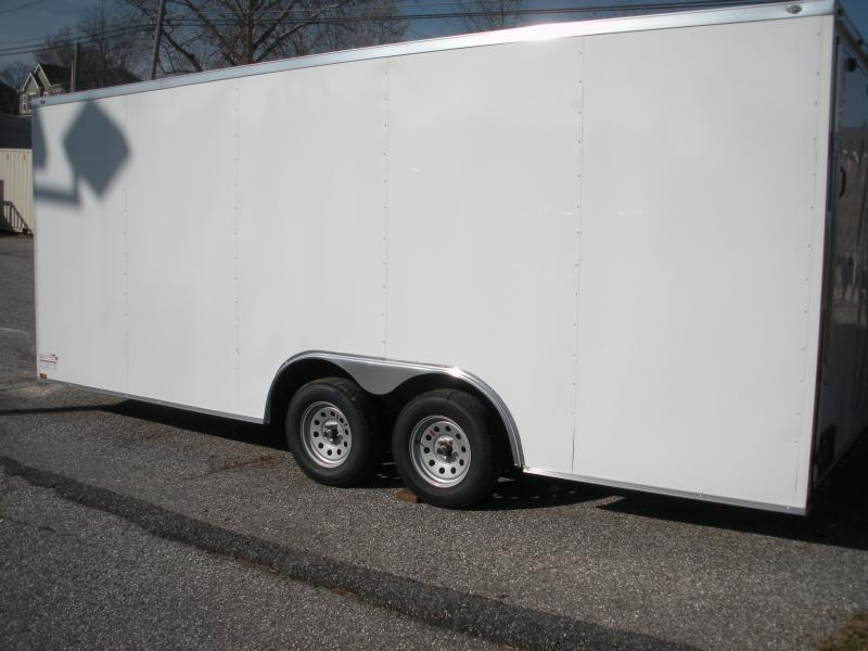 2021 Spartan 8.5' X 20' X 7' Height 7K White Semi-Screwless Car / Racing Trailer