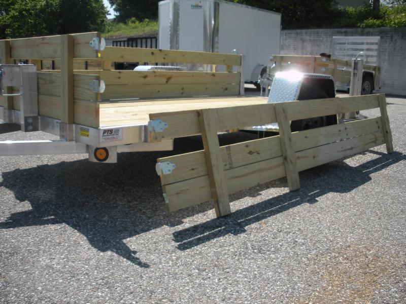 """2020 Quality Steel and Aluminum 62"""" X 10' Aluminum w/ Removable Wood Sides Utility Trailer"""