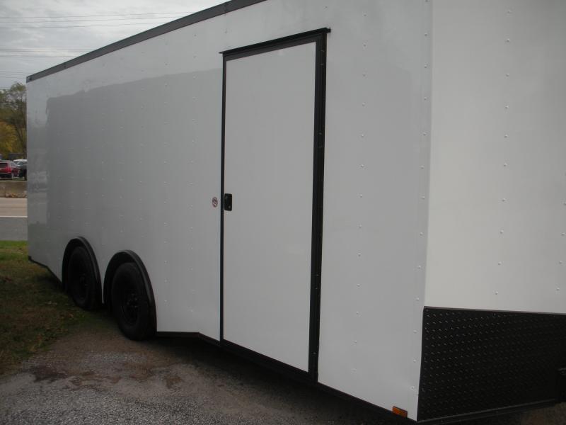 Due in Summer 2021 *2021 Spartan 8.5' X 20' X 7' Height 7K Split Torsion Axle White/ Black Trim Car / Racing Trailer