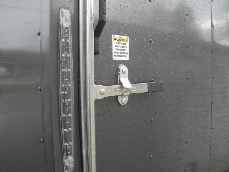 "Due 7/21*""HOT DEAL"" 2020 Spartan 7' X 16'  CHARCOAL *6 D Rings* 2 Way Aluminum Side Vents Enclosed Cargo Trailer"