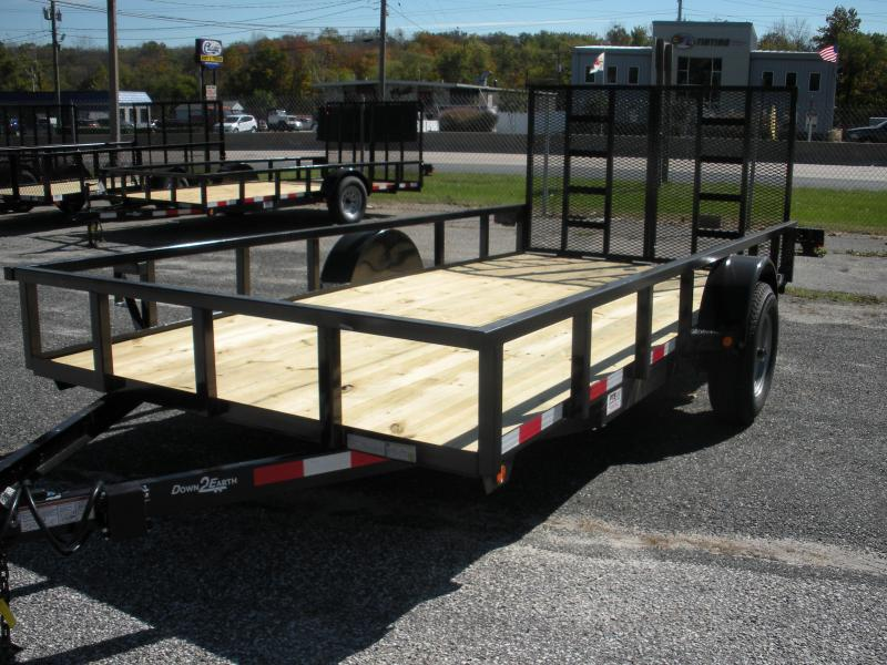 2020 Down 2 Earth Trailers 76X14 5K Single Axle Utility Trailer