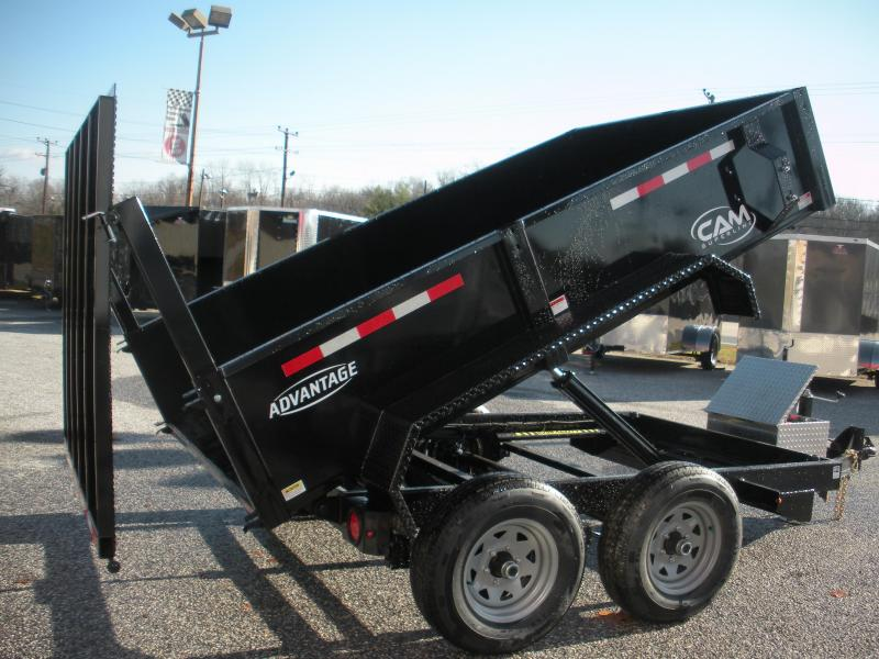 2021 Cam Superline 6' X 10' 10K with 5' Landscape Ramp Low Profile Dump Trailer