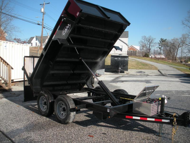 2020 Cam Superline 6' X 10' 10K with 5' Landscape Ramp Low Profile Dump Trailer