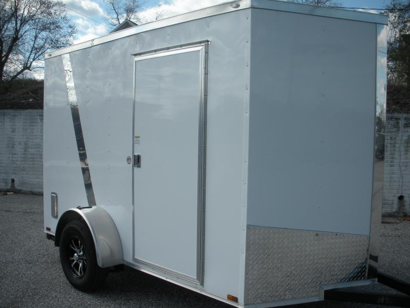 "Due in Spring 2021 *2021 Spartan 6' X 10' White Two Tone 6'6"" Height Motorcycle Pkg. Enclosed Cargo Trailer"