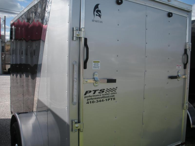 2020 Spartan 6' X 10' Black/Silver Motorcycle Pkg. Enclosed Cargo Trailer