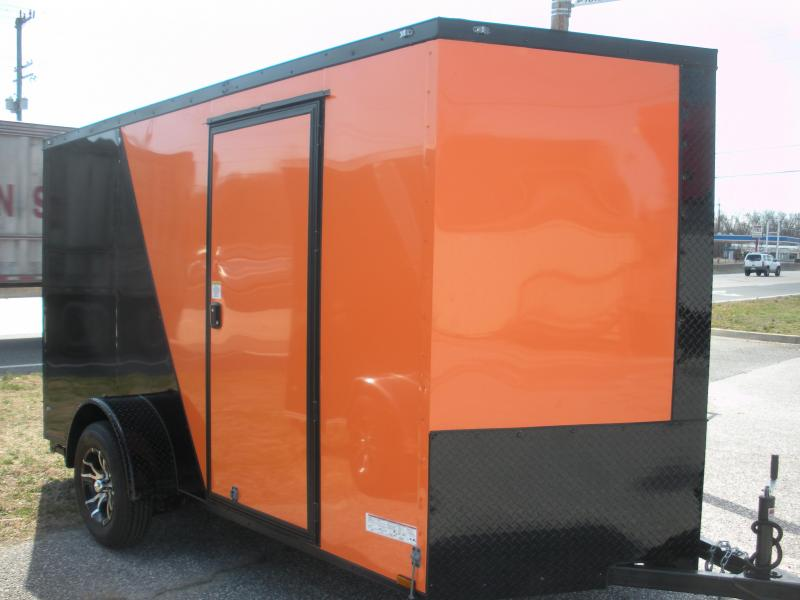 "2020 Anvil 6' X 12' Enclosed ""BLACKOUT"" 2 Tone with Orange Cargo Trailer"