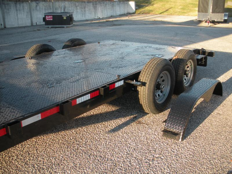 """HOT DEAL"" In Stock Now*2021 QSA 83"" X 20' 10K *Adj. Coupler* 2 Removable Fenders*Steel Deck Open Car / Racing Trailer"