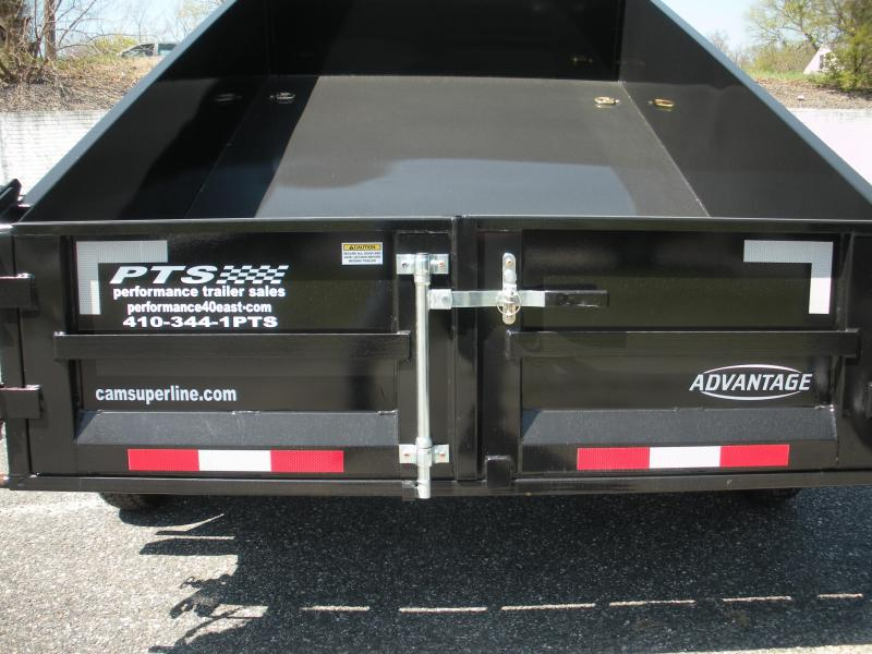 Due in Early July *2021 Cam Superline 6' X 12' 10 K Low Profile Dump Trailer with 3 Way Gate & Ramps
