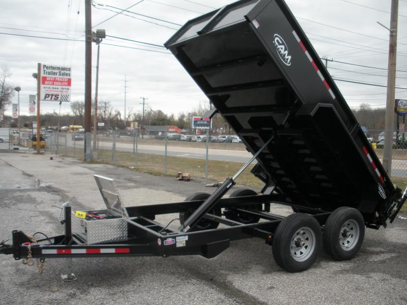 Due in Mid July *2021 Cam Superline 6' X 12' 10 K Low Profile Dump Trailer with 3 Way Gate & Ramps