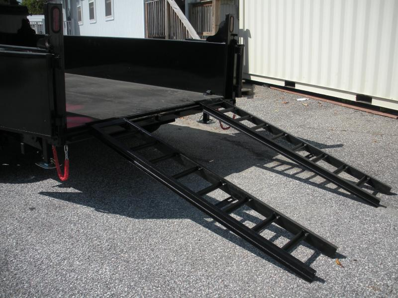 "Due In 12/10 *Reserve Yours NOW! 2021 Quality Steel and Aluminum 83"" X 14' 14K *Dual Rams*Stabilizer Legs*Power Up & Down*Slide Out Ramps*Dump Trailer"