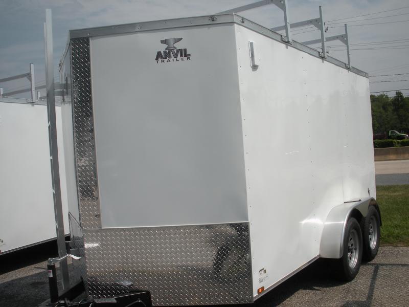 "7' X 12' *Rear Barn Doors*6'6"" Height*Aluminum Ladder & 3 Ladder Racks*Cargo/Enclosed Trailer"