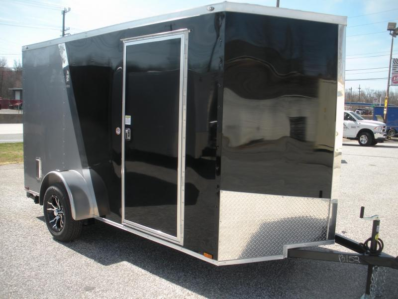 Due in Spring 2021 *2021 Spartan 6' X 12' Black/Silver & Motorcycle Pkg. Enclosed Cargo Trailer