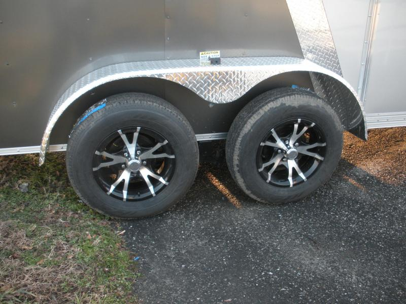 2020 Arising 7' X 12' 7K Charcoal/Silver Enclosed Motorcycle Cargo Trailer