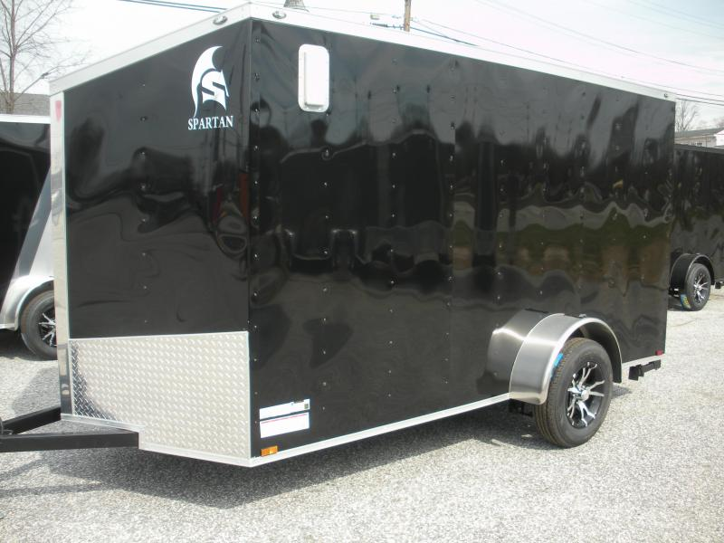 Due in Spring 2021 *2021 Spartan 6' X 12' Slanted V Nose Motorcycle Pkg. Enclosed Cargo Trailer