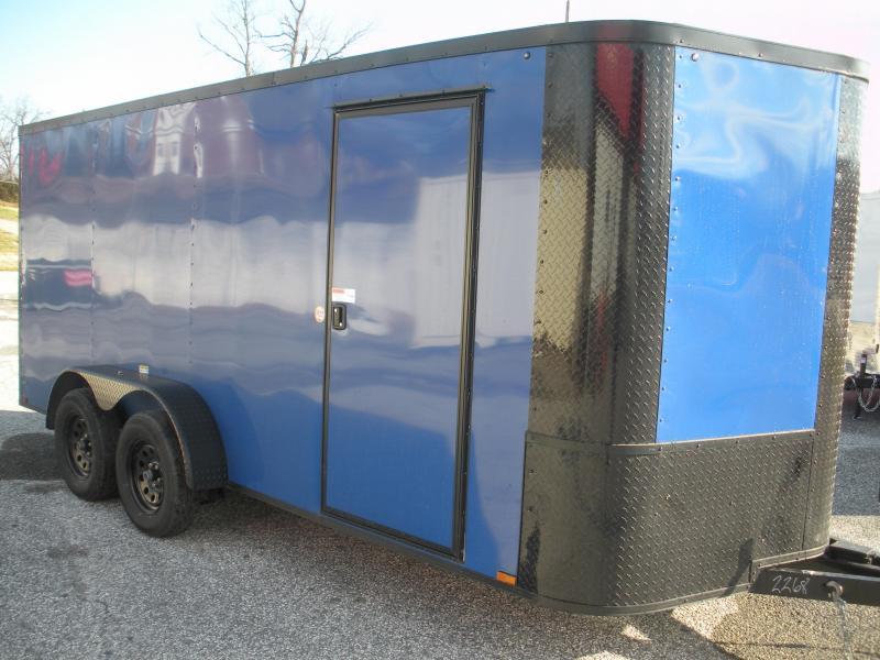 2021 Arising 7' X 16' Blue & Black Trim Pkg. Enclosed Cargo Trailer