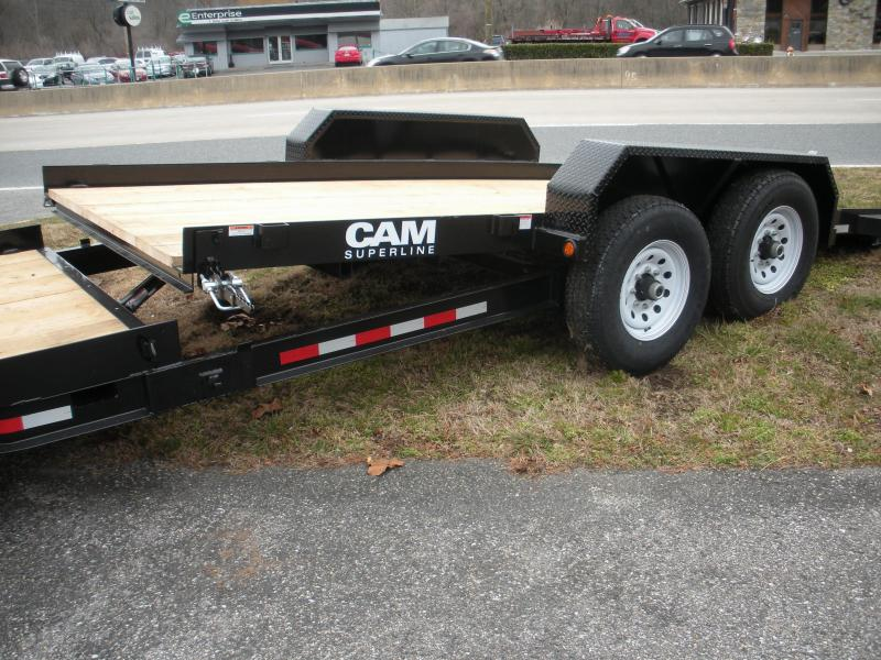 2021 Cam Superline 16K Tilt Trailer Split Deck 8.5 x 15+4 Equipment Trailer