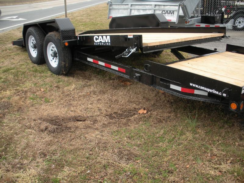 Currently Sold Out *2021 Cam Superline 16K Tilt Trailer Split Deck 8.5 x 15+4 Equipment Trailer