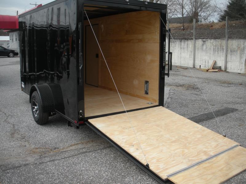 "Due in Spring 2021 *2021 Spartan 6' X 12' ""Black Trim Pkg."" & Motorcycle Pkg. Enclosed Cargo Trailer"