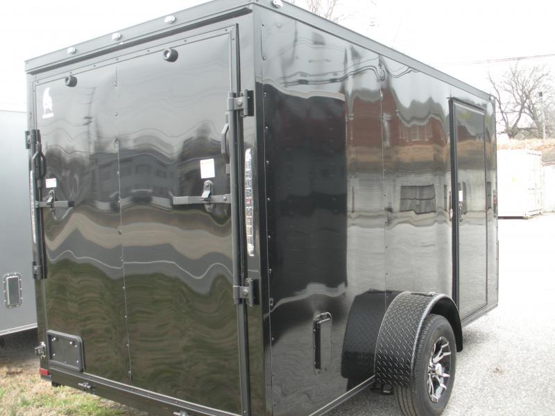 "2021 Spartan 6' X 12' ""Black Trim Pkg."" & Motorcycle Pkg. Enclosed Cargo Trailer"