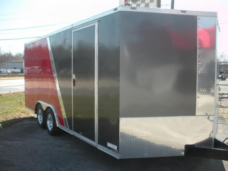 2021 Anvil 8.5' X 18' 7K 2 Tone Charcoal and Red Car / Racing Trailer