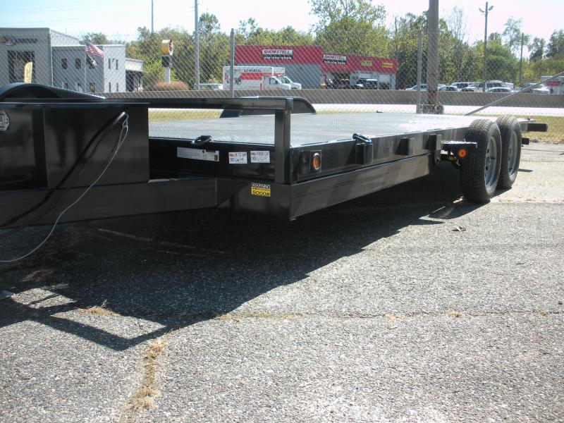 "2020 Quality Steel and Aluminum 83"" X 18' 7K Steel Deck Power Up & Down Open Car / Racing Trailer"