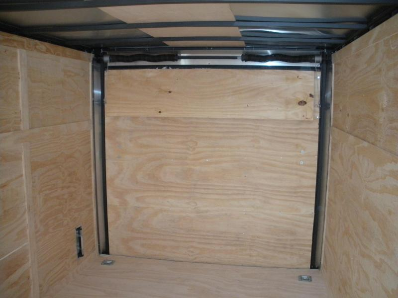 "SOLD* More on the Way* ""HOT DEAL"" 2021 Spartan 7' X 16' Black  *6 D Rings* 2 Way Aluminum Side Vents Enclosed Cargo Trailer"