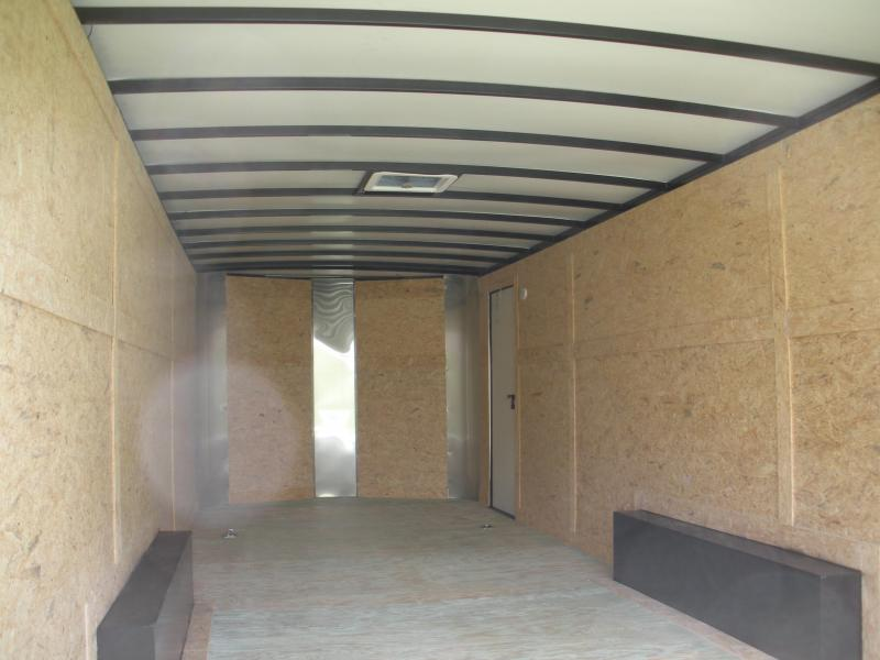 2021Arising 8.5' X 24' X White & Black Out Package* *10K Enclosed Cargo Car Trailer