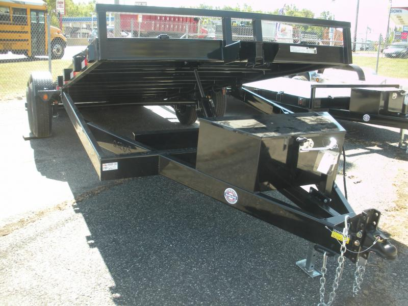 "2020 Quality Steel and Aluminum 83"" X 20' 10K Steel Deck Power Up & Down Open Car / Racing Trailer"