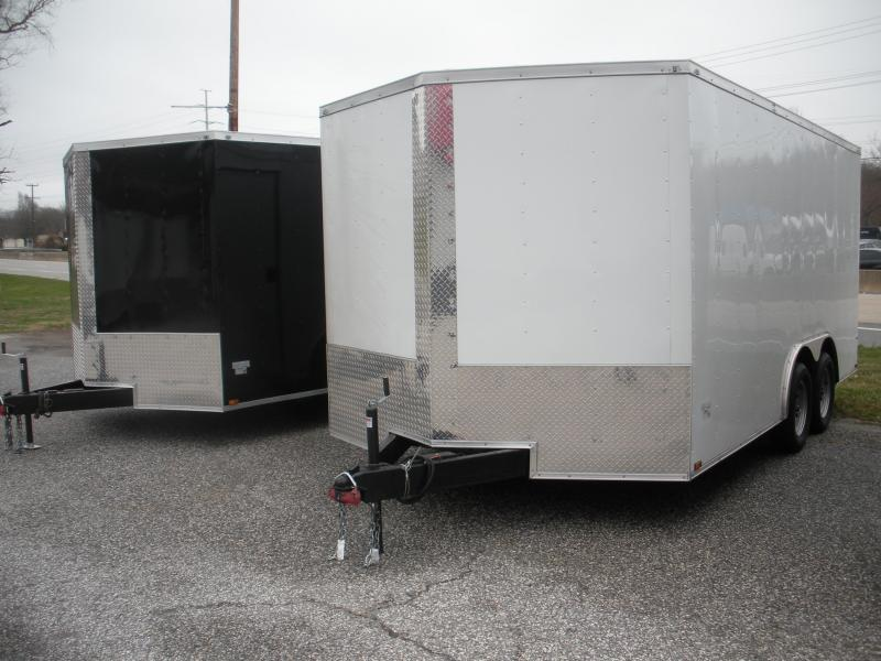 IN STOCK*2021 MCTL 8.5' X 20' X 7' Height*Semi-Screwless White Car / Racing Trailer (picture not exact)