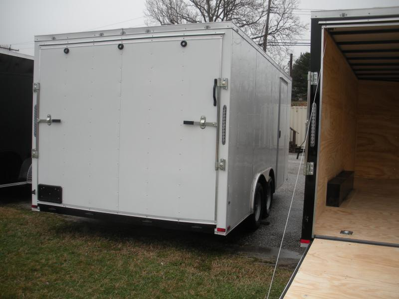 2021 MCTL 8.5' X 20' X 7' Height*Semi-Screwless White Car / Racing Trailer (picture not exact)
