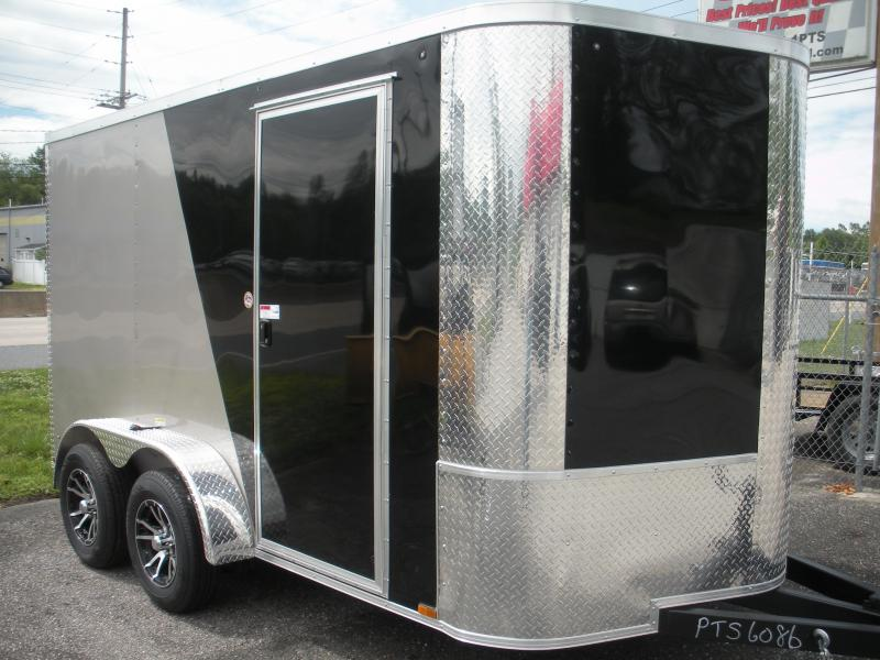 2020 Arising 7' X 12' 7K Black/Beige Enclosed Motorcycle Cargo Trailer