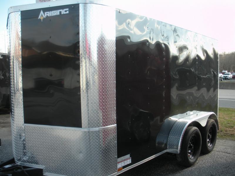 2021 Arising 7' X 12' 7K Black or White Enclosed Cargo Trailer