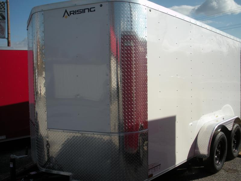 2021 Arising 7' X 12' 7K Black or White Enclosed Cargo Trailer