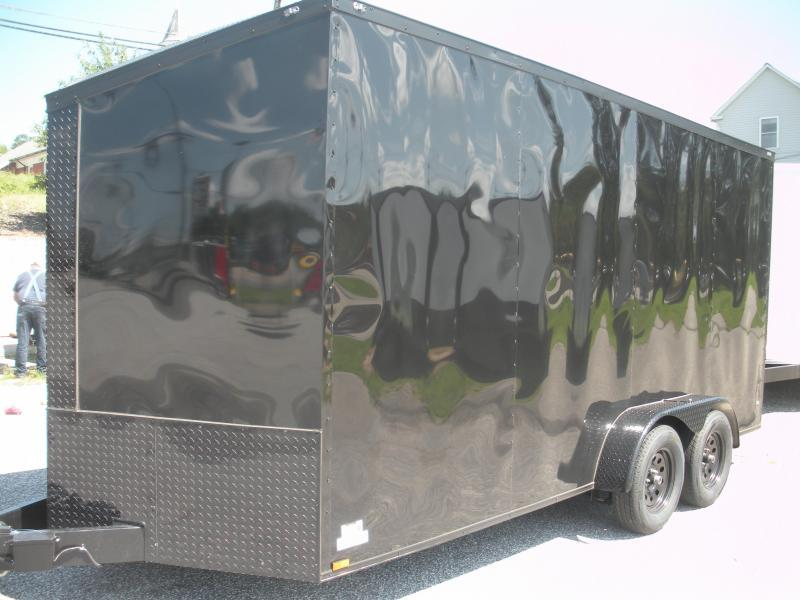 "2020 Anvil 7' X 16' X 7' Slanted V Nose ""Black Trim"" Enclosed Cargo Trailer"