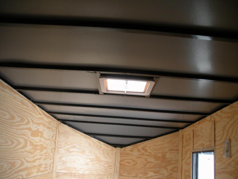 "2021 Anvil 7' X 16' X 7' Slanted V Nose ""Black Trim"" Enclosed Cargo Trailer"